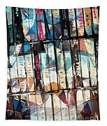Musical Cassette Tapes Collage Tapestry