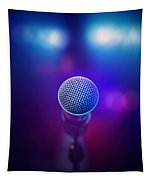 Musical Microphone On Stage Tapestry
