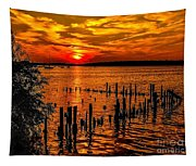 Muskegon Sunset Tapestry