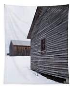 Musterfield Farm North Sutton Nh Old Buildings In The Snow Tapestry