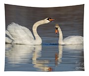 Mute Swans Drinking Tapestry