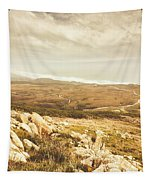 Muted Mountain Views Tapestry