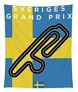 My F1 Anderstorp Race Track Minimal Poster Tapestry