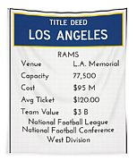 My Nfl Los Angeles Rams Monopoly Card Tapestry