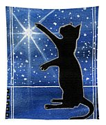 My Shinning Star - Christmas Cat Tapestry