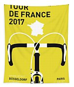 My Tour De France Minimal Poster 2017 Tapestry