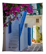 Mykonos Staircase Tapestry