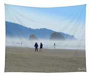 Mysterious Morn On Cannon Beach Tapestry