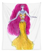 Mzia Meisouri. Beauty Girl From Space Tapestry