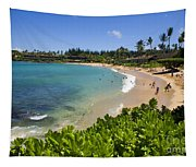 Napili Bay With Visitors Tapestry