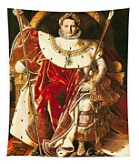 Napoleon I On The Imperial Throne Tapestry