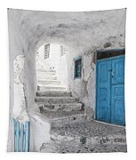 Narrow Alley And Stairway On Santorini Tapestry