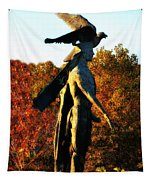 Native American And Eagle Tapestry