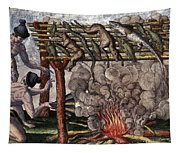 Native American Barbecue Tapestry