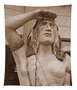 Native American Statue In Toppenish Tapestry