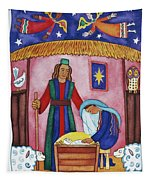 Nativity With Angels Tapestry