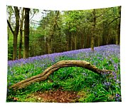 Natural Arch And Bluebells Tapestry