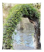Natural Archway Over Hillsborough River Tapestry