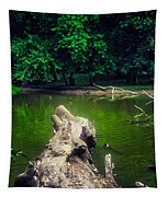 Natural Fishing Pier Tapestry