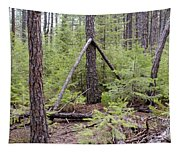 Natural Peace In The Woods Tapestry