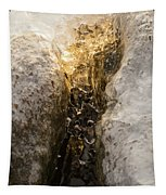 Natures Creativity - Golden Crevasse Tapestry