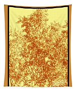 Natures Trees In Brown And Yellow Tapestry