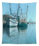 Nautical Aquas At The Harbor Tapestry