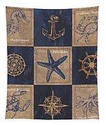 Nautical Burlap Tapestry