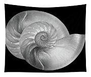 Nautilus Pair In Mono - Horizontal Tapestry