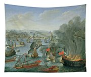 Naval Battle With The Spanish Fleet Tapestry
