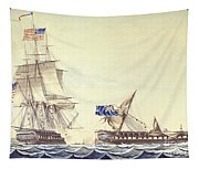 Naval Engagement Between The Uss Frigate Constitution And Hms Frigate Java Tapestry