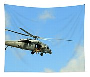 Navy Helicopter Tapestry