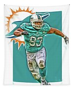 Ndamukong Suh Miami Dolphins Oil Art Tapestry