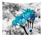 Near Bloom Blue Tapestry