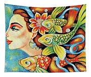 Nefertiti Sea Journey Tapestry