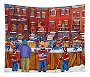 Neighborhood  Hockey Rink Tapestry