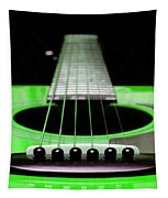 Neon Green Guitar 18 Tapestry