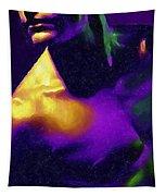 Neon Lights Man Tapestry