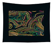 Neon Night Life Tapestry