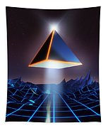 Neon Road  Tapestry