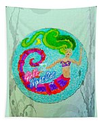 Neon Undersea Invitation Girls Night Out Tapestry