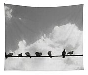 Network Of The Bird Line  Tapestry