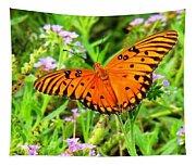 Windows From Heaven Orange Butterfly Tapestry