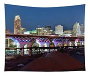 New Bridge Pano Tapestry