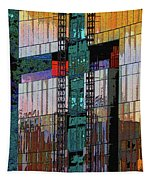 New Building Reflecting Colors Tapestry