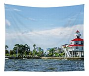 New Canal Lighthouse And Lakefront - Nola Tapestry