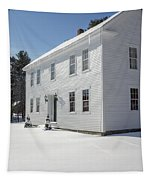 New England Colonial Home In Winter Tapestry