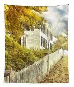 New England Fall Foliage Pencil Tapestry