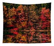 New England Fall Foliage Reflection Tapestry