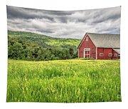 New England Farm Landscape Tapestry